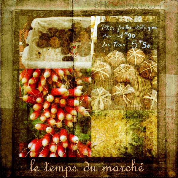 Produce at the French farmers markets