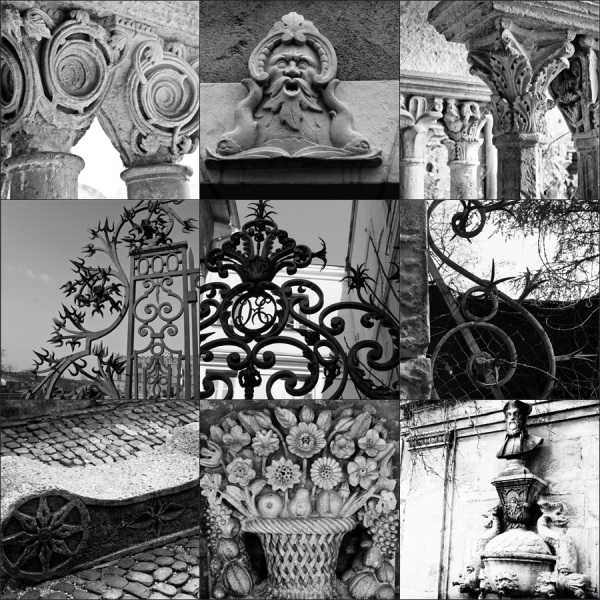 French Stone and Ironwork Details
